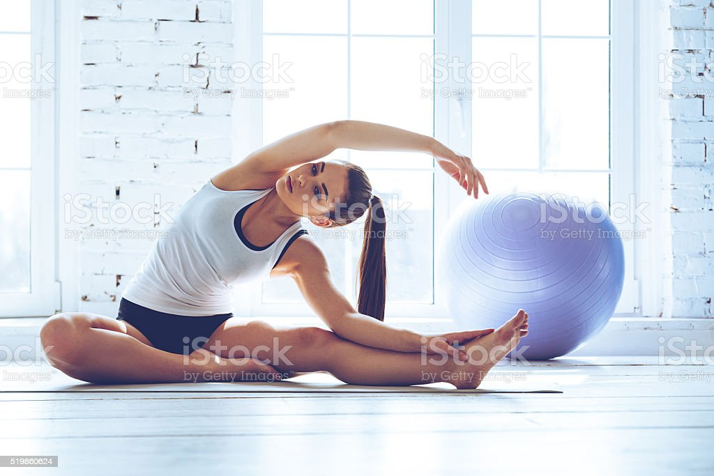Beautiful and flexible. stock photo