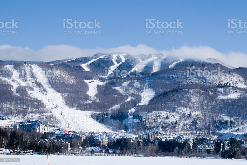 A beautiful and glorious view of Mont Tremblant  stock photo
