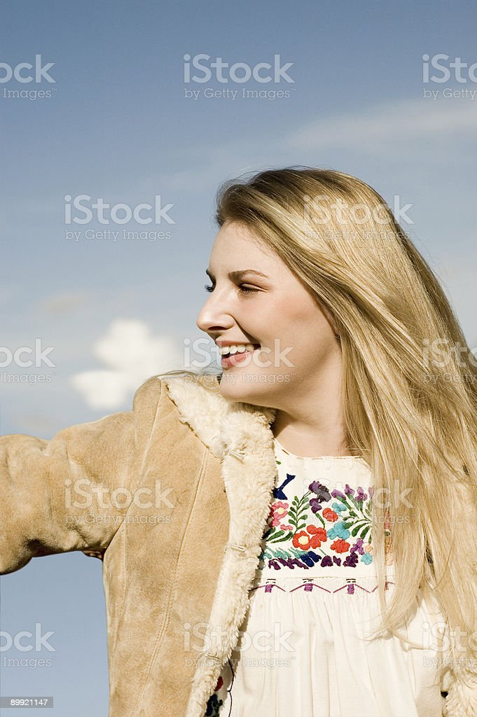 Beautiful and Happy Woman royalty-free stock photo