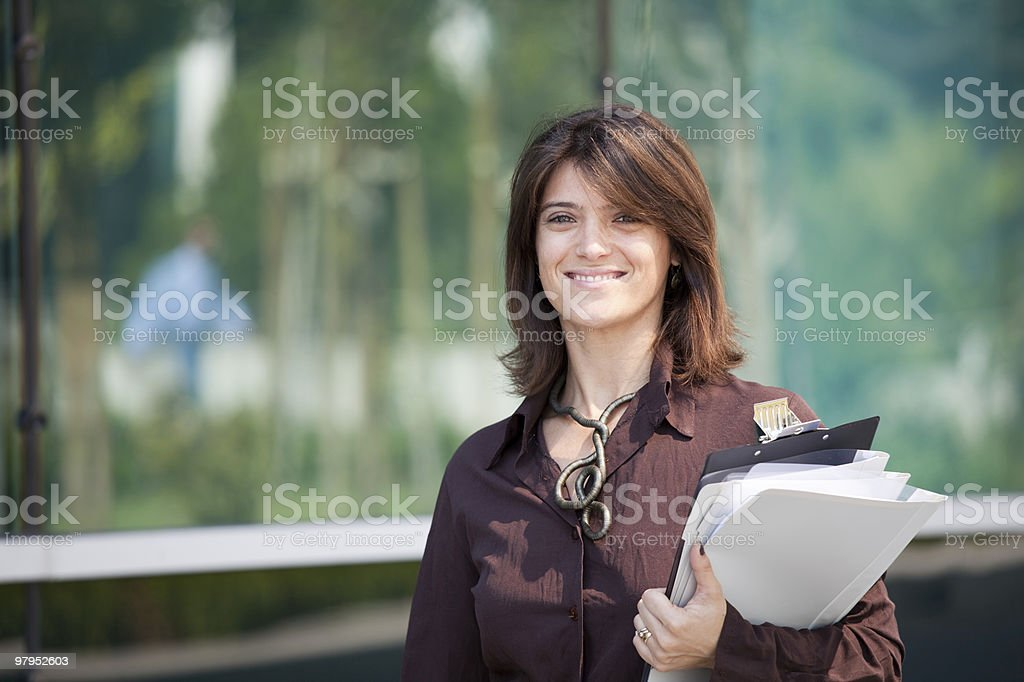 Beautiful and modern businesswoman royalty-free stock photo