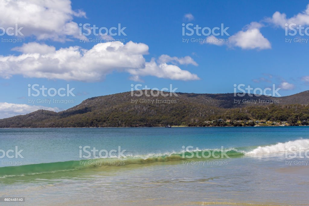 beautiful and natural Adventure Bay stock photo
