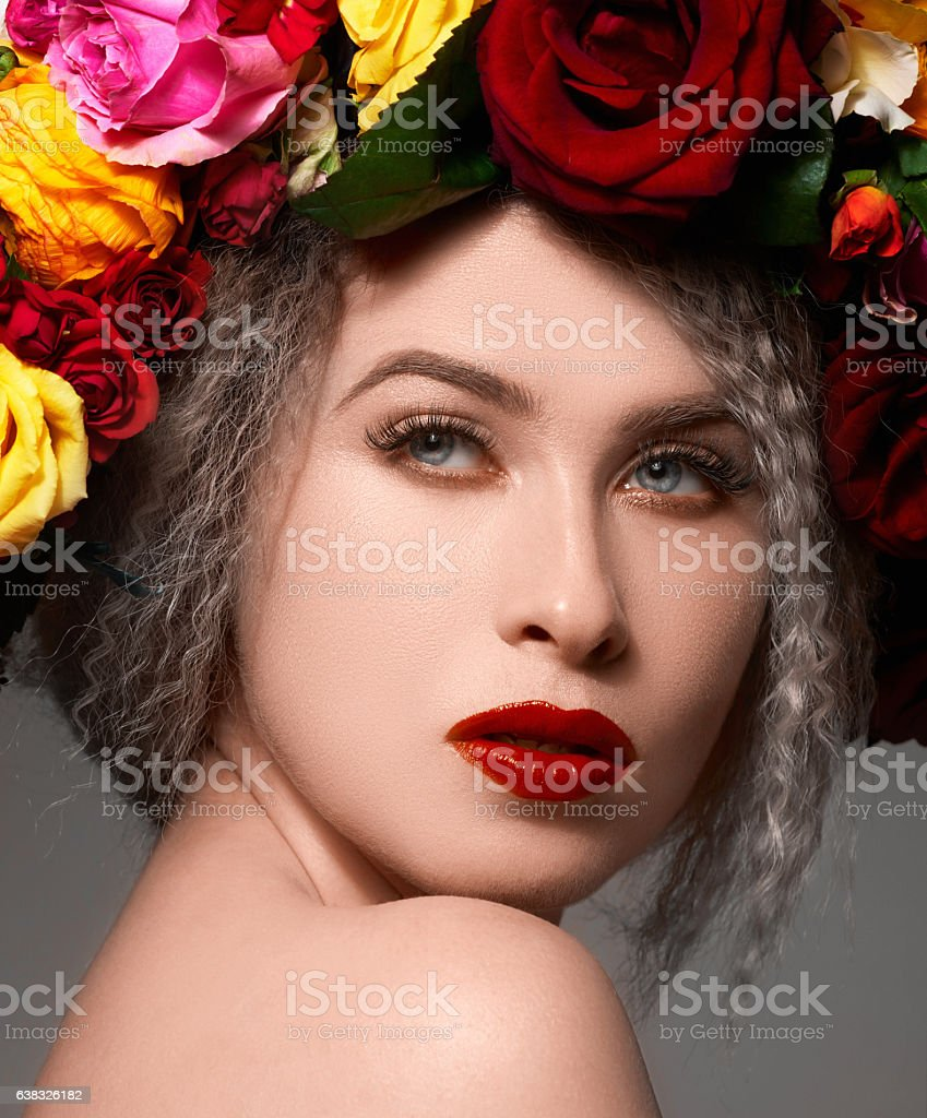 beautiful and seductive stock photo