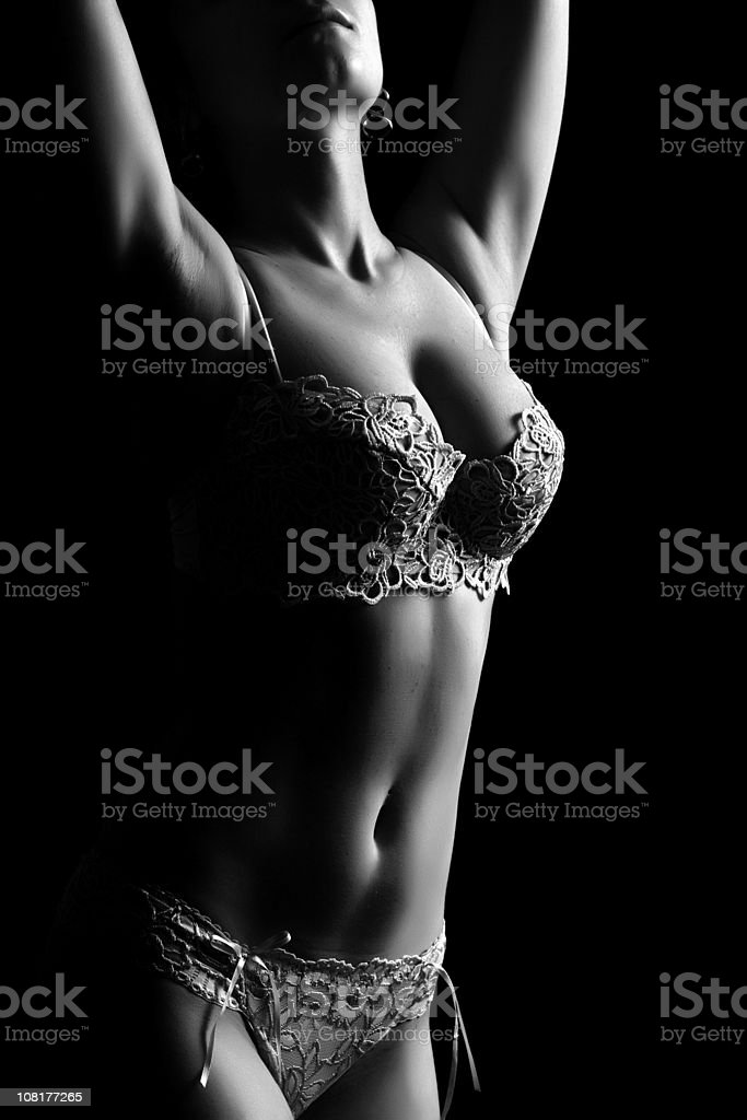 Beautiful and sexy brunette girl royalty-free stock photo