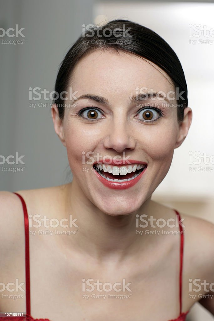 Beautiful and surprised royalty-free stock photo