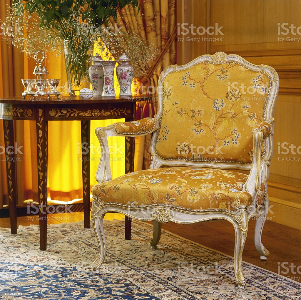 Beautiful antique styled interior design royalty-free stock photo