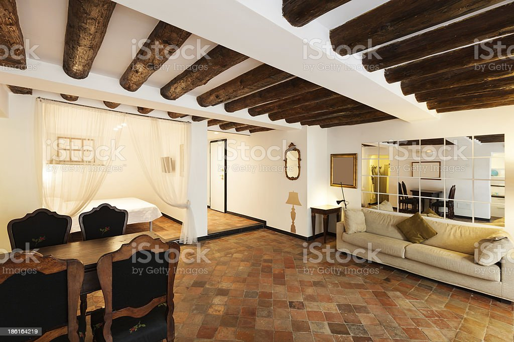 Beautiful apartment classic style stock photo