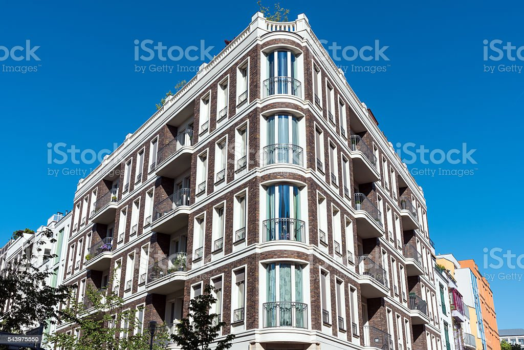 Beautiful apartment house in Berlin stock photo