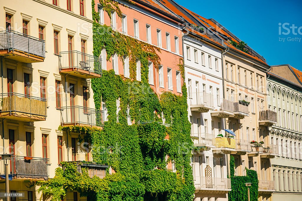 beautiful apartment houses in Berlin, Germany stock photo