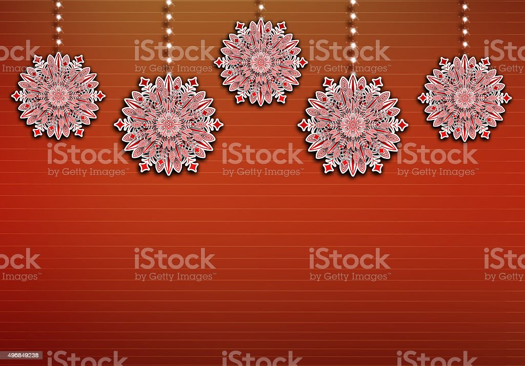 Beautiful Arabic Decorations are hanging on sparkling ropes. stock photo