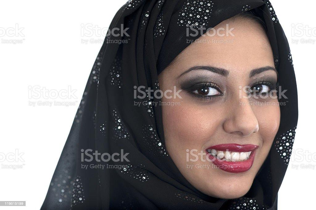 Beautiful Arabic, Muslim Woman royalty-free stock photo
