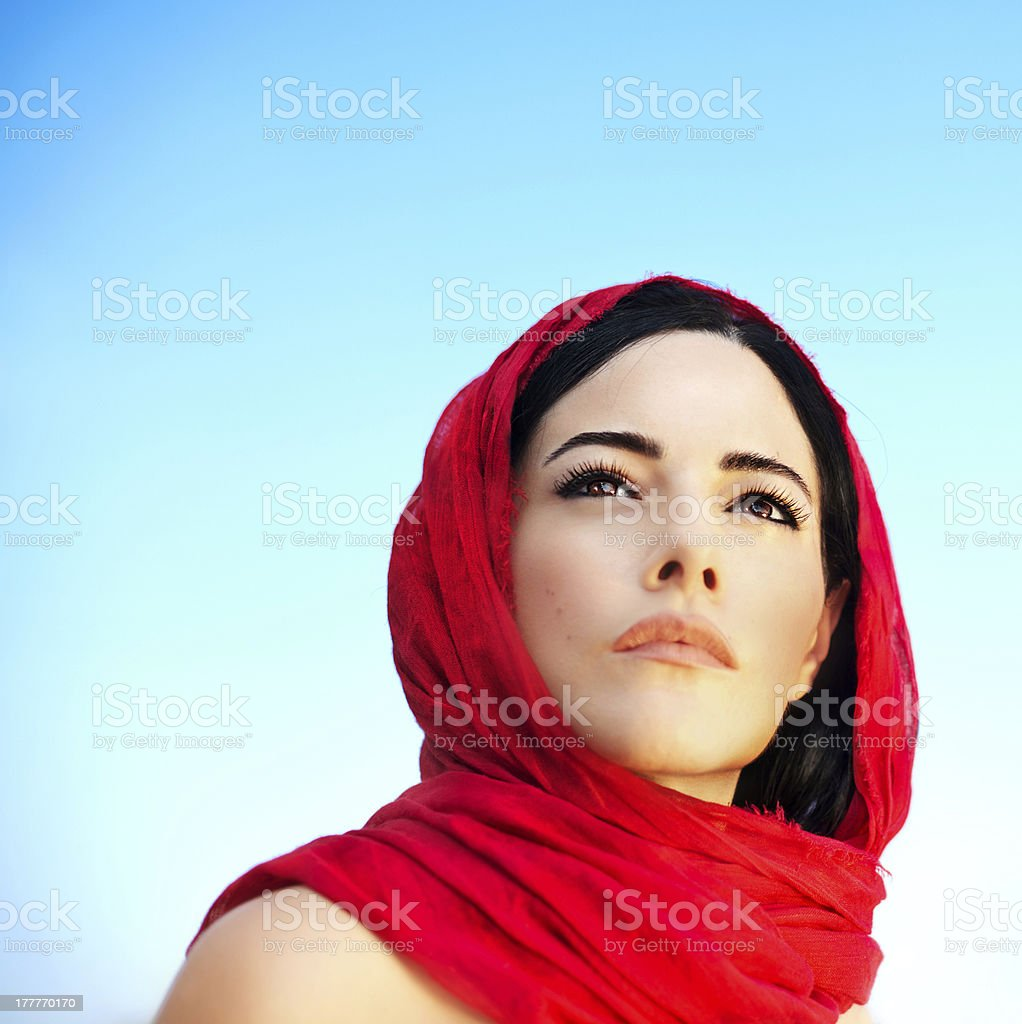 Beautiful arabic woman stock photo