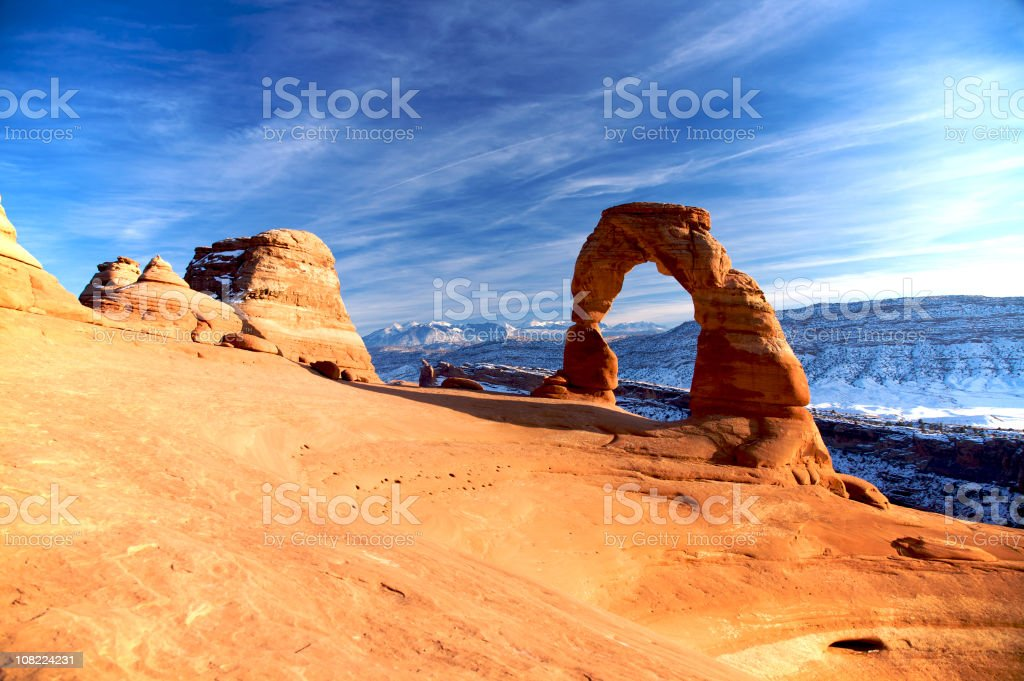 Beautiful arches in Utah's National Park stock photo