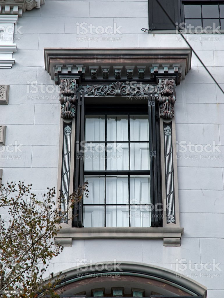Beautiful Architectural Detain Around Window royalty-free stock photo