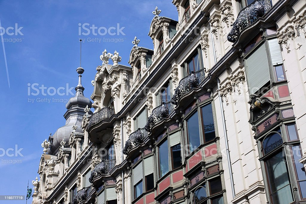 Beautiful architecture in Zurich royalty-free stock photo