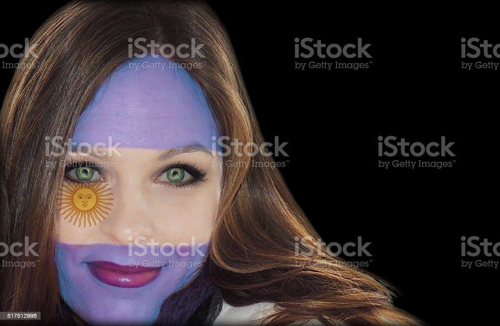Beautiful Argentinian fan stock photo