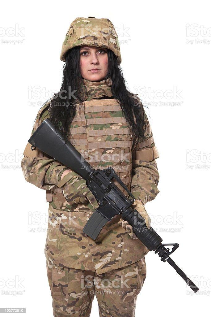 Beautiful army girl royalty-free stock photo