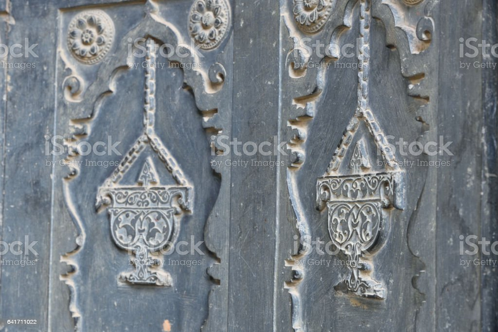 Beautiful artwork on the stone stock photo