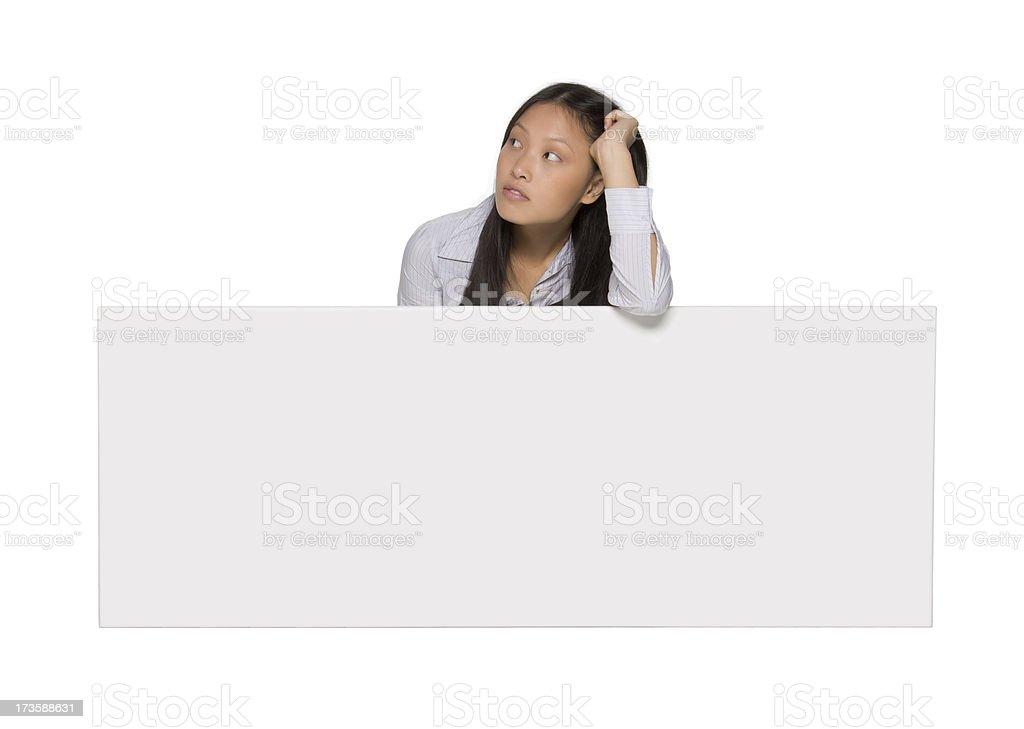 beautiful asian billboard girl stock photo
