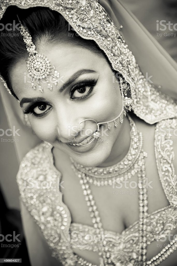 Beautiful Asian bride royalty-free stock photo