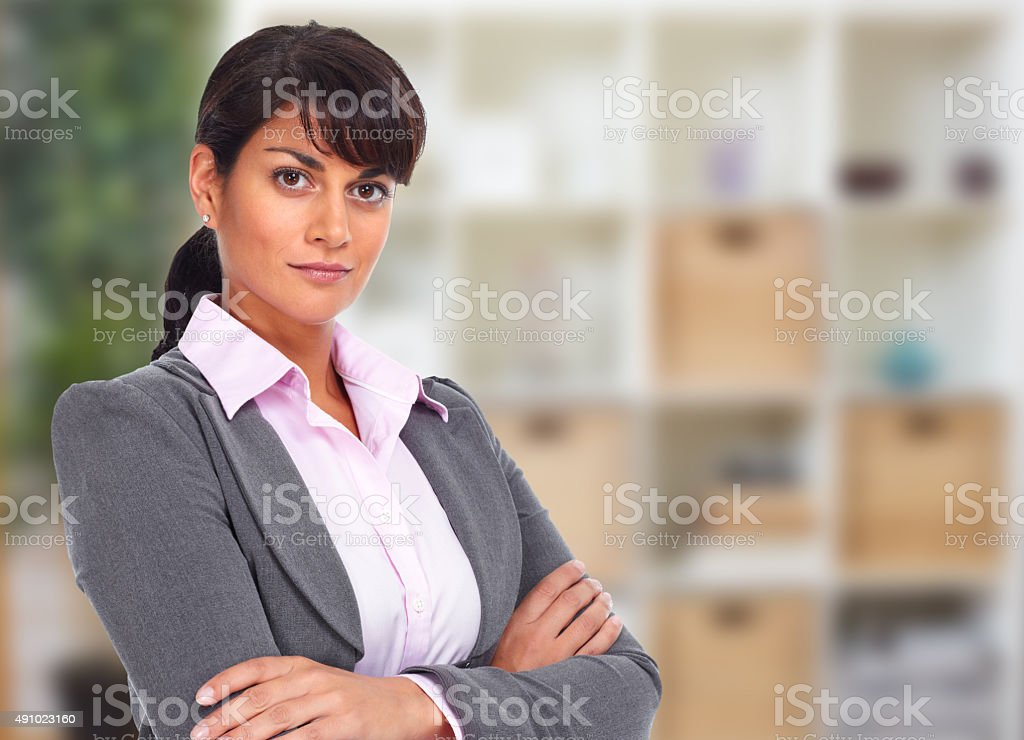 Beautiful asian business woman. stock photo