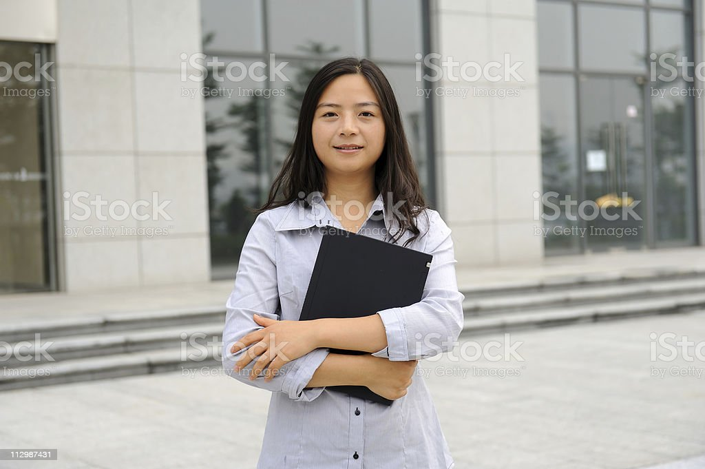 beautiful asian businesswoman stock photo
