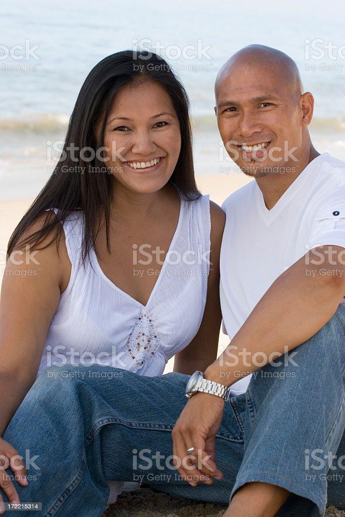 Beautiful Asian Couple royalty-free stock photo