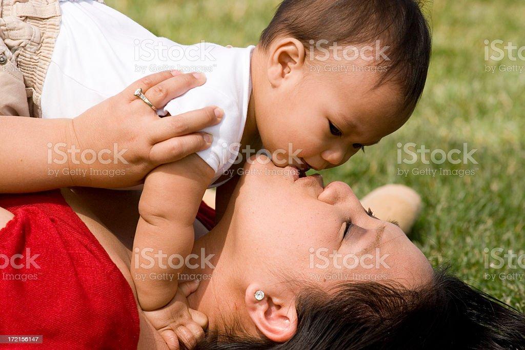 Beautiful Asian Family royalty-free stock photo