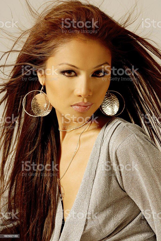 Beautiful Asian Fashion Model royalty-free stock photo