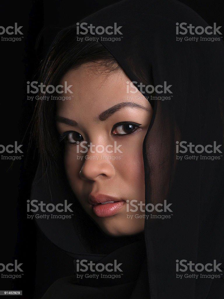 Beautiful Asian girl royalty-free stock photo