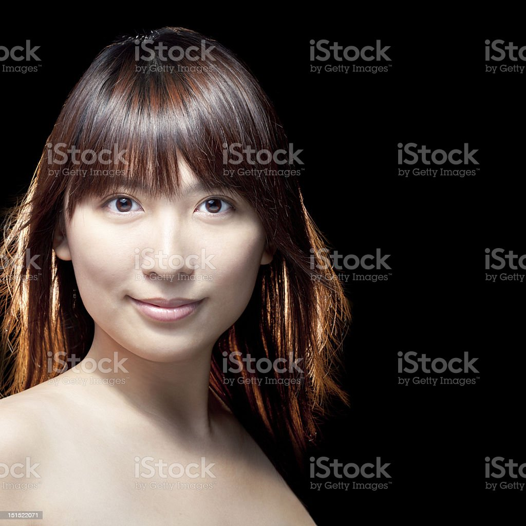 Beautiful Asian girl with perfect skin royalty-free stock photo