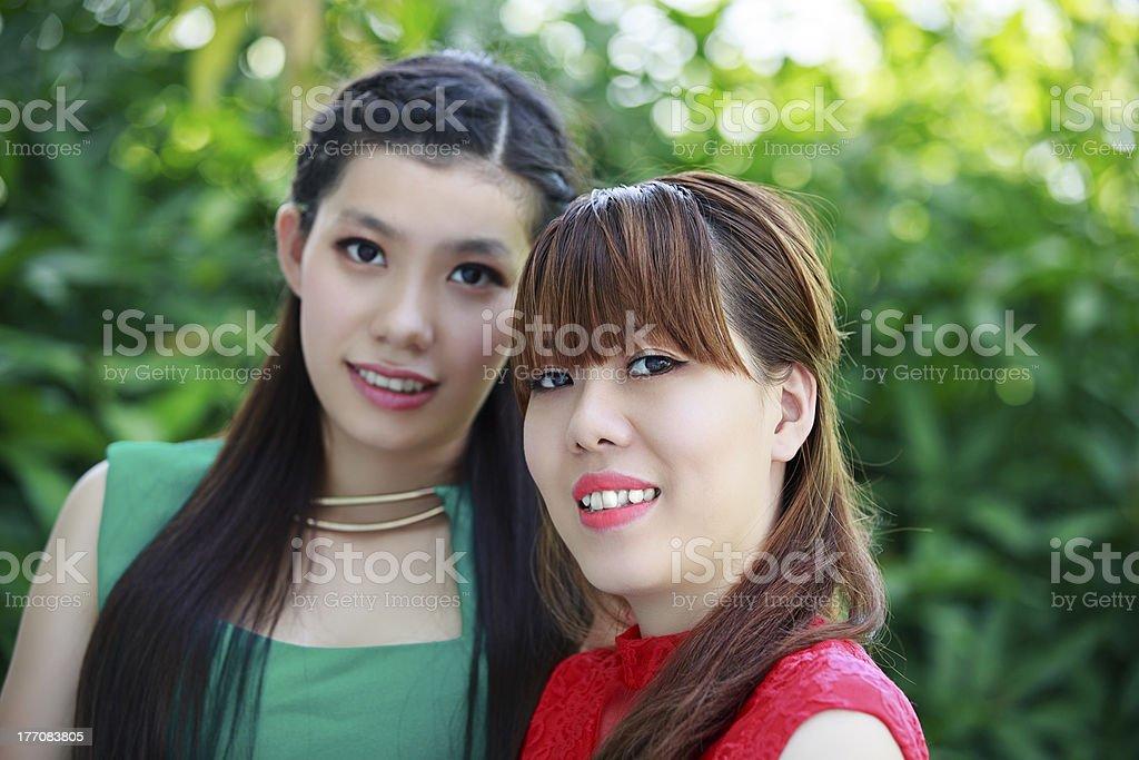 Beautiful Asian girls royalty-free stock photo