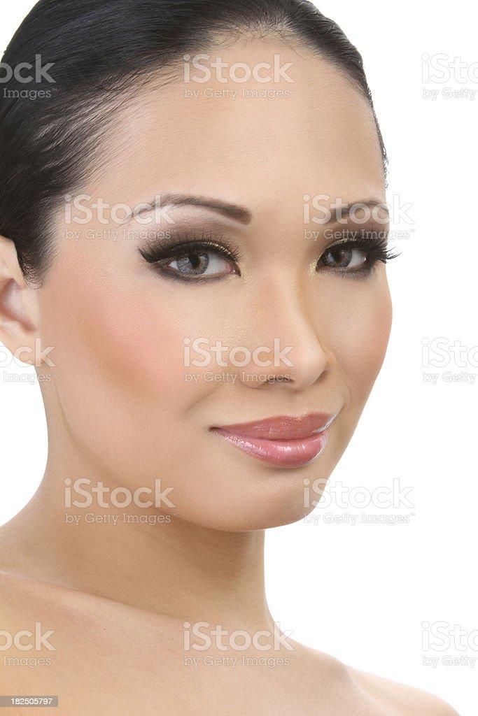 Beautiful Asian Model Closeup royalty-free stock photo