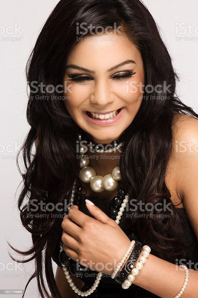Beautiful Asian Model Laughing royalty-free stock photo