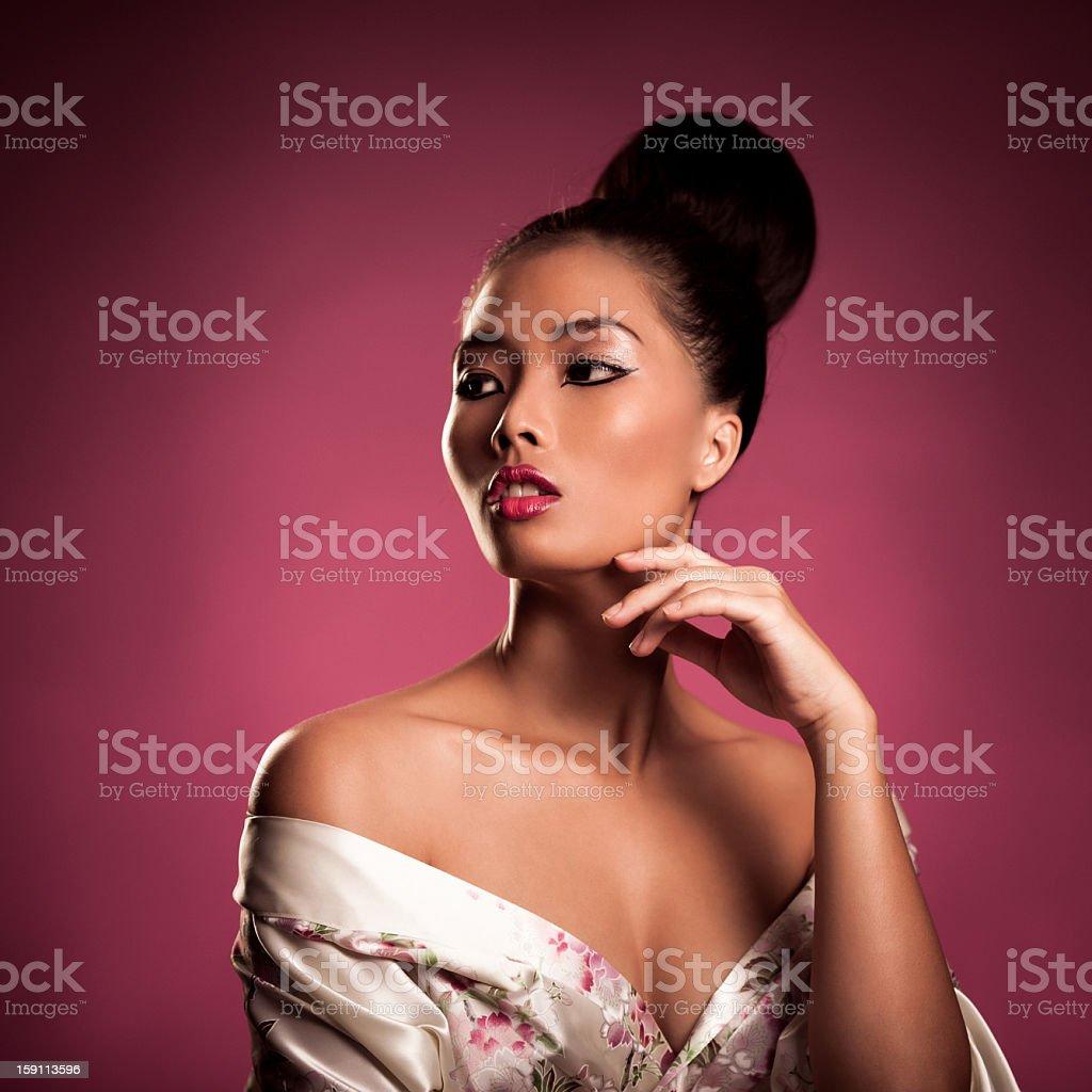 Beautiful Asian Model Posing stock photo