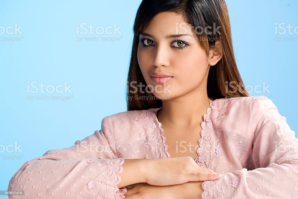 beautiful asian Muslim young woman royalty-free stock photo