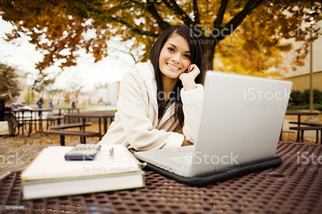 Beautiful Asian Student royalty-free stock photo