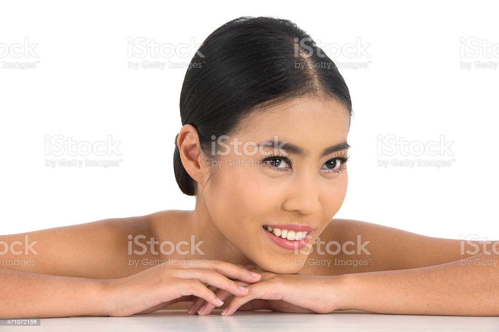 beautiful asian woman stock photo
