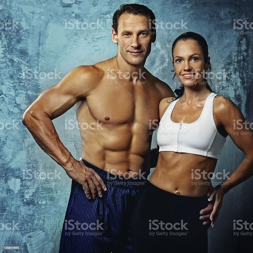 Beautiful athletic couple royalty-free stock photo