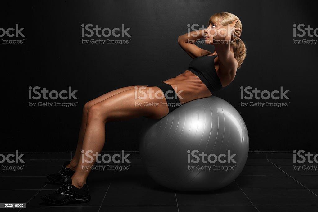 Beautiful athletic woman stock photo