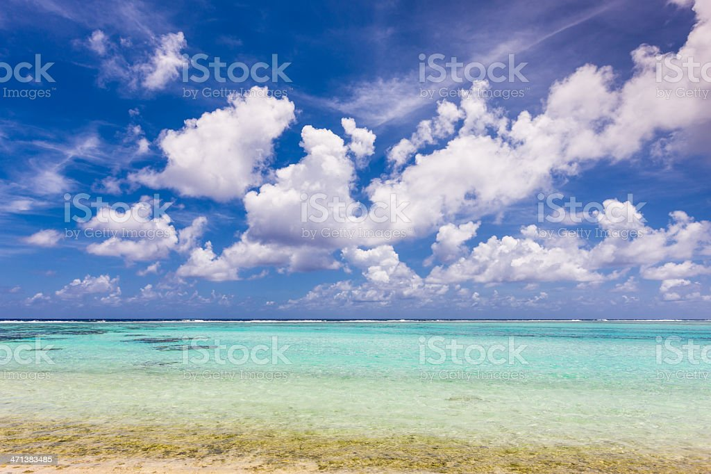 Beautiful Atoll Lagoon royalty-free stock photo