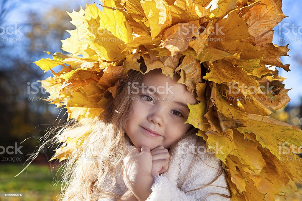 Beautiful Autumn girl royalty-free stock photo