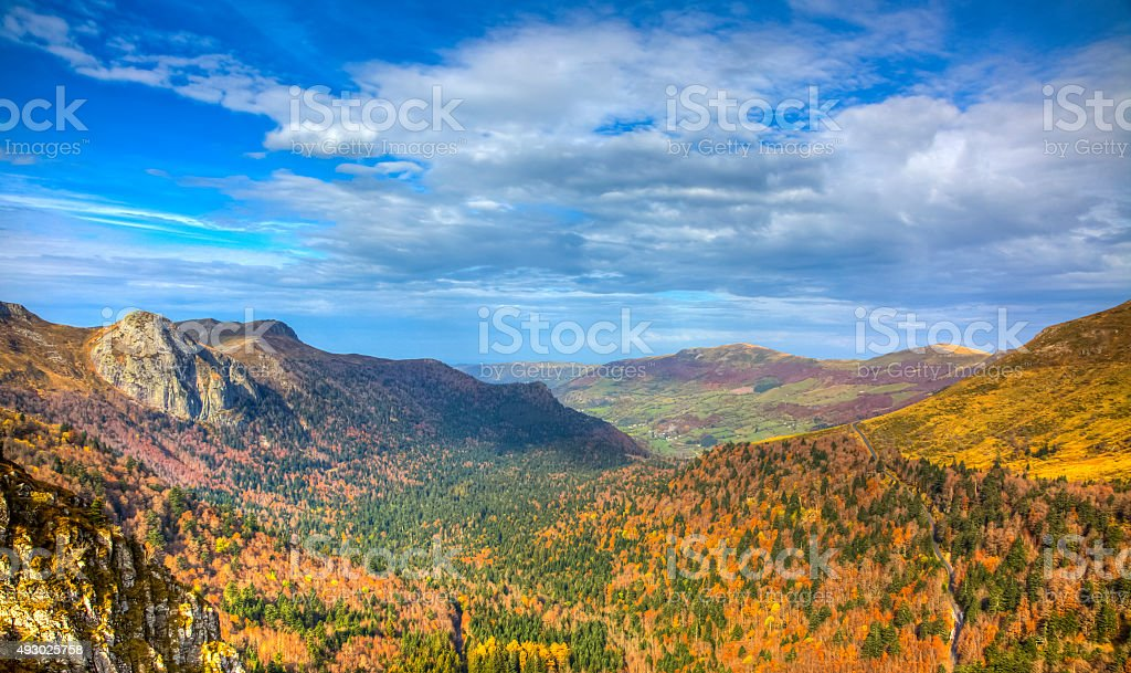 Beautiful Autumn Valley stock photo