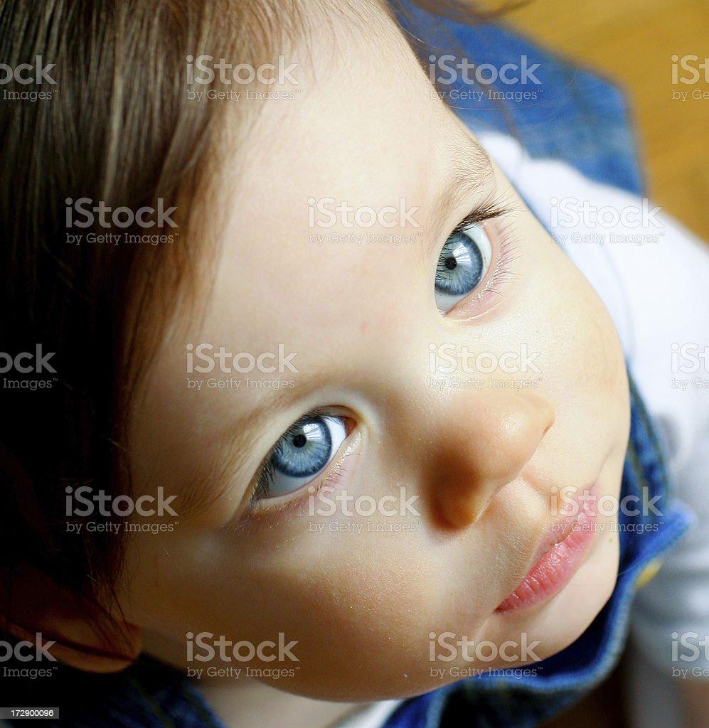 Beautiful baby face close-up royalty-free stock photo