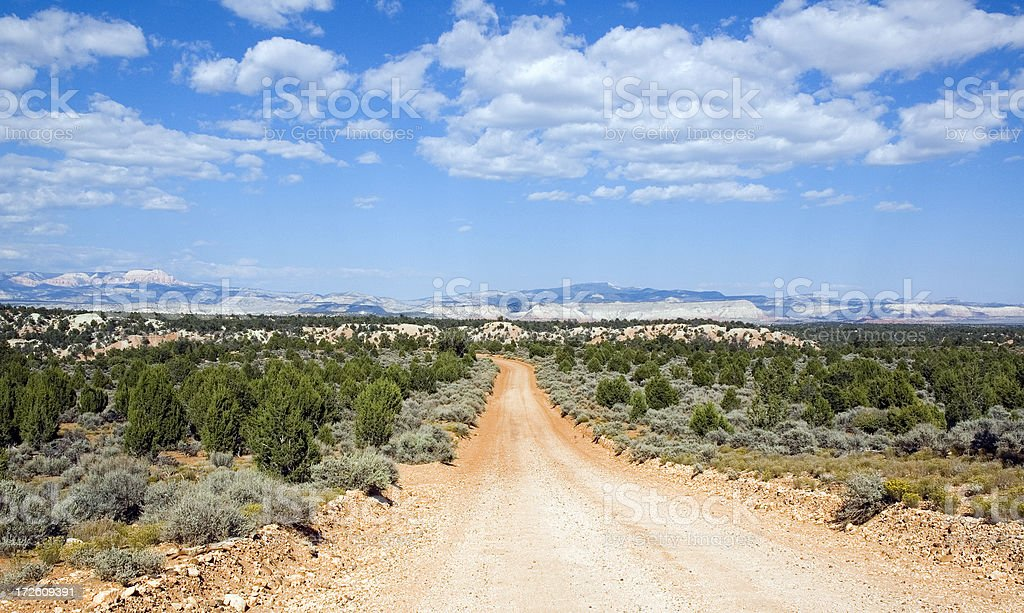 Bellissimo Backcountry Road foto stock royalty-free