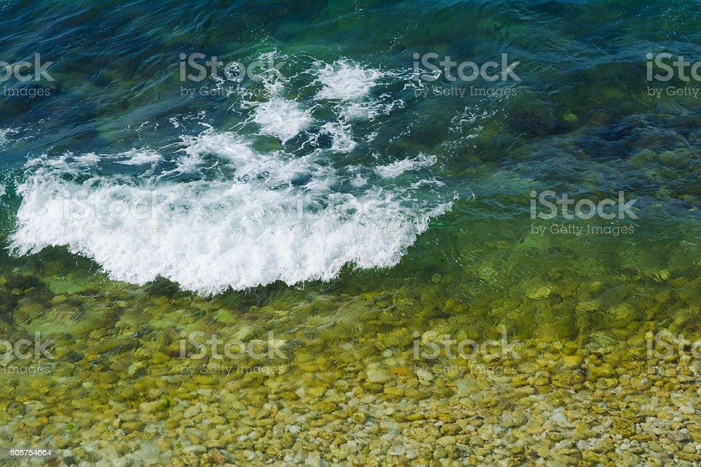Beautiful background of sea waves stock photo