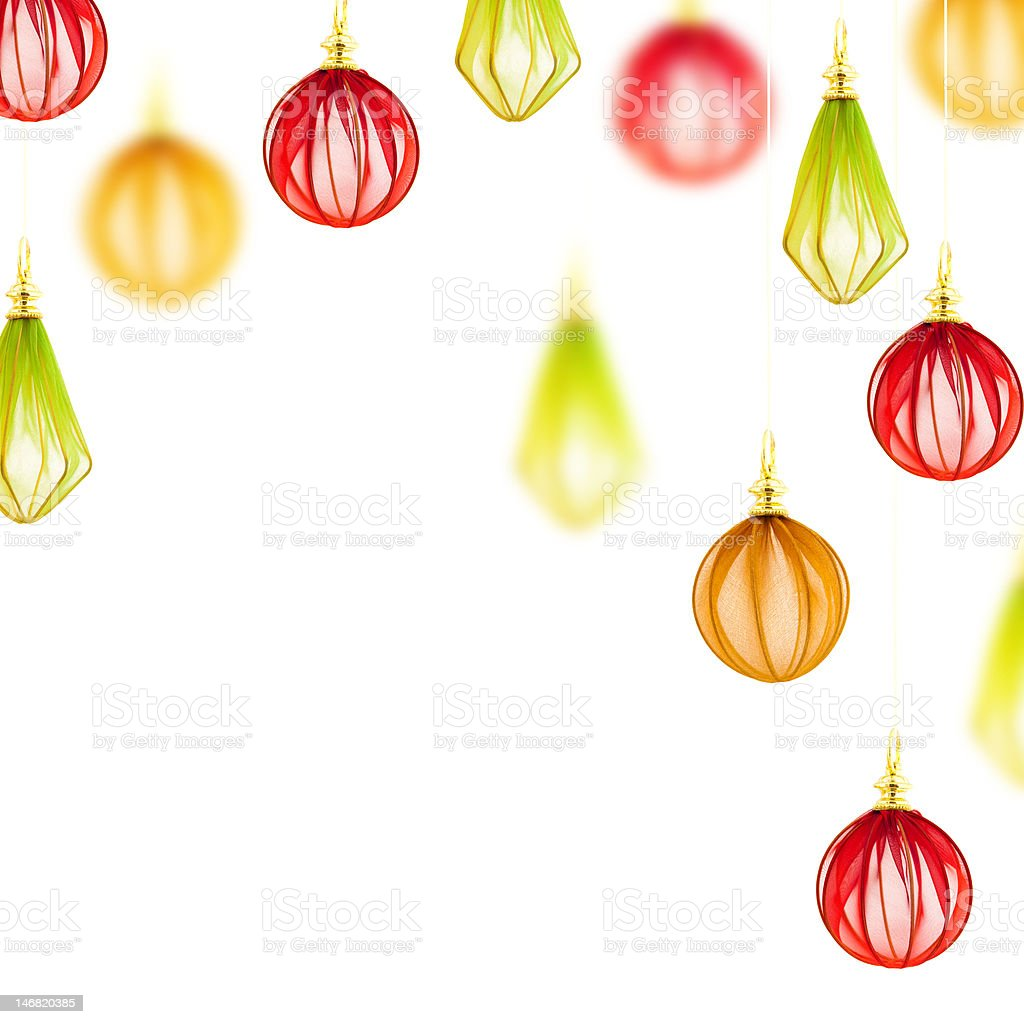Beautiful background with elegant Christmas decorations royalty-free stock photo