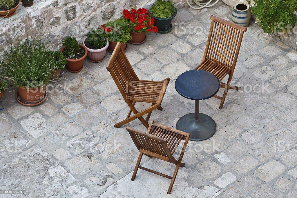 Beautiful Backyard in Dubrovnik, Croatia royalty-free stock photo
