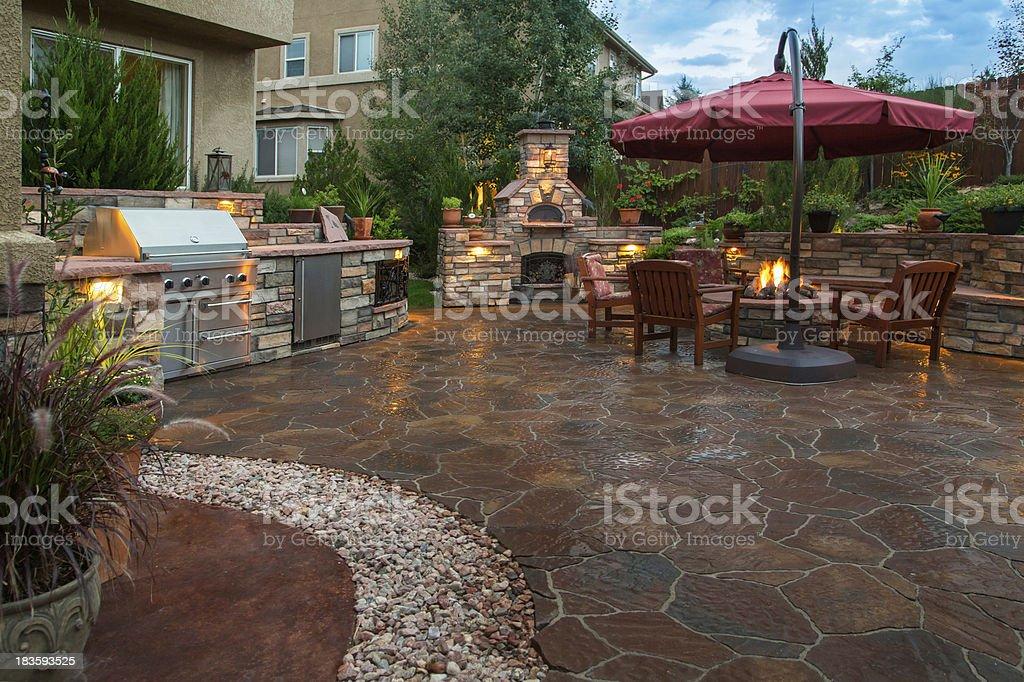 Beautiful Backyard stock photo
