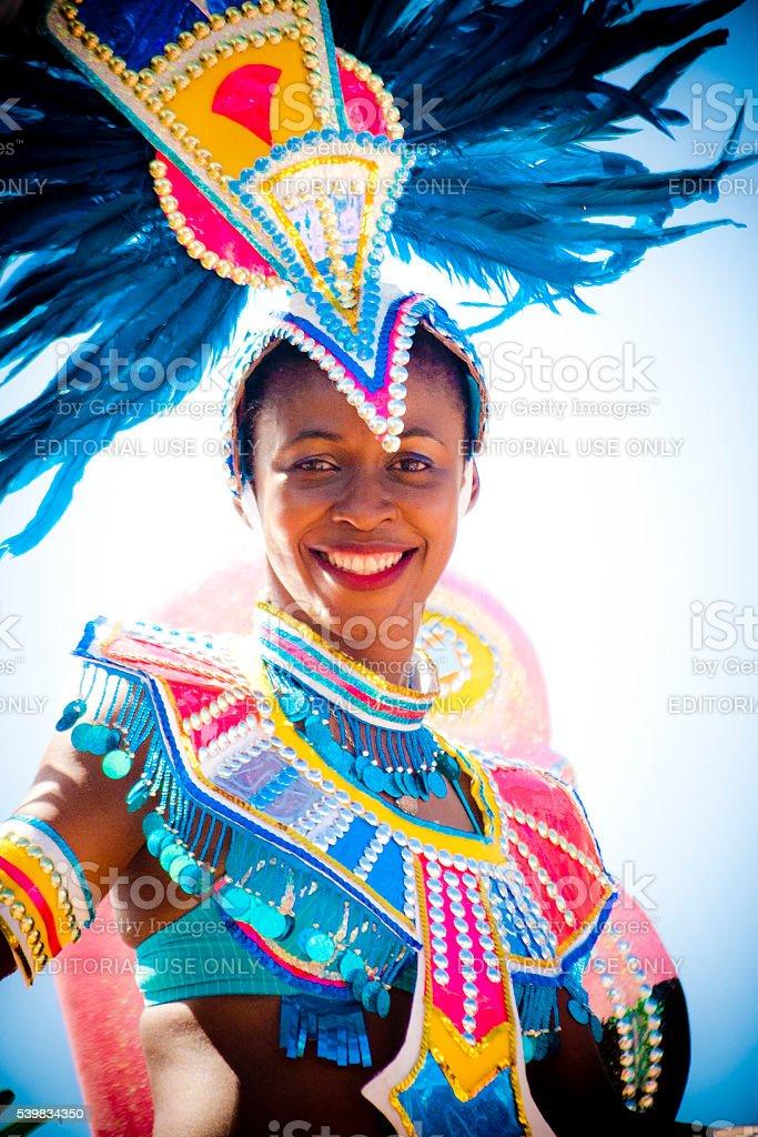 Beautiful Bahamian Woman stock photo