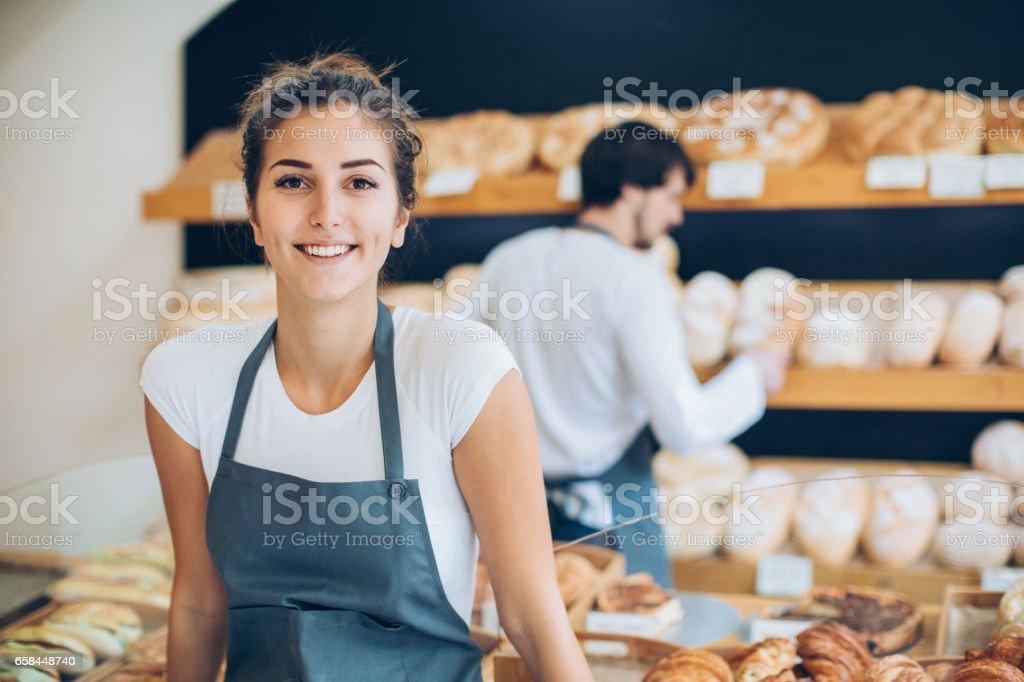 Beautiful baker stock photo